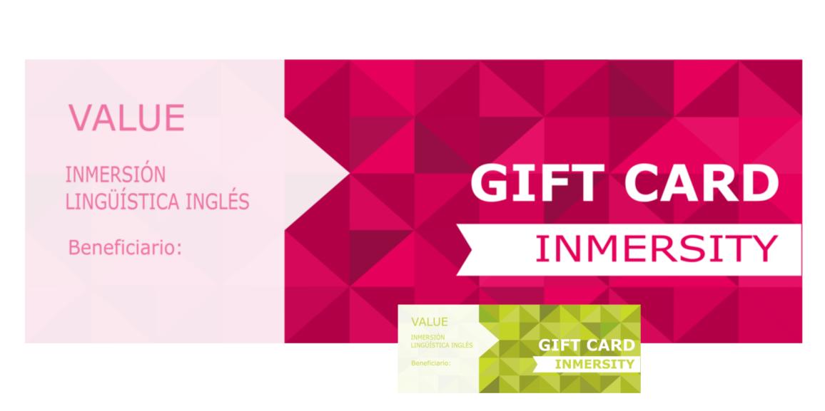 Cursos de inmersión en inglés - Cursos de inmersión lingüistica en inglés - Inmersity Gift Card - Regala Experiencias de Inmersión