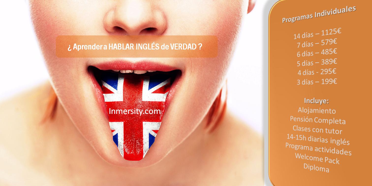 Cursos de inmersión en inglés - Cursos de inmersión lingüistica en inglés - Aprender a hablar Inglés